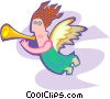 Vector Clip Art graphic  of an angels