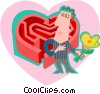 Man in front of a romantic challenge Vector Clipart graphic