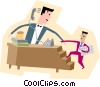 Vector Clipart picture  of a modern business people working