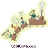 business as a locomotive Vector Clip Art picture
