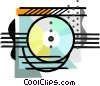 industry, CD-ROM recording Vector Clip Art image
