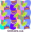Vector Clip Art picture  of a Cool wallpaper pattern