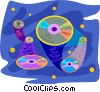 Vector Clip Art image  of a Compact disks