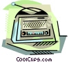 Transistor radio Vector Clipart picture