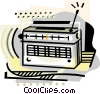industry, radio Vector Clipart illustration