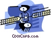 Vector Clip Art graphic  of a Satellite