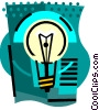 Light bulb Vector Clipart graphic