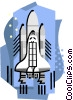Vector Clipart graphic  of a Shuttle