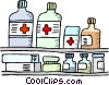 Vector Clip Art image  of a medication displayed on