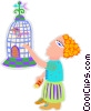 birdcage Vector Clipart graphic