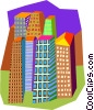 apartment buildings Vector Clipart illustration