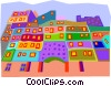 Vector Clipart picture  of a cityscape