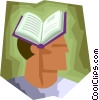 Vector Clipart picture  of a Man with book