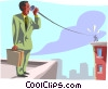 Vector Clip Art graphic  of a business communications
