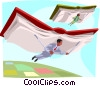 Vector Clip Art image  of a business people soaring
