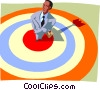 Bull's-Eye Vector Clipart graphic