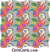 Vector Clip Art picture  of a Floral pattern