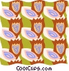 decorative wallpaper Vector Clipart image