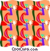 Vector Clip Art picture  of a decorative wallpaper