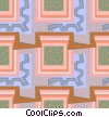 Cool wallpaper pattern Vector Clip Art image
