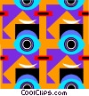 Cool wallpaper pattern Vector Clipart image