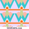 Vector Clip Art image  of a Cool wallpaper pattern