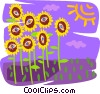 sunflowers Vector Clip Art graphic
