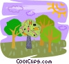 Vector Clipart picture  of a trees