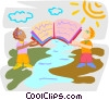 sharing information across international borders Vector Clipart picture