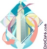 Vector Clip Art graphic  of a Empire State Building