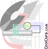 Computer circuit Vector Clipart illustration