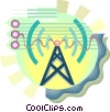 Vector Clip Art image  of a Power tower