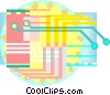 Computer circuit Vector Clipart graphic