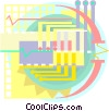 Vector Clipart graphic  of a Computer circuit
