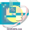 Vector Clip Art graphic  of a Computer abstract