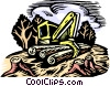 Clear cut logging Vector Clipart graphic