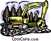 Clearing land Vector Clipart picture