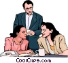 Vector Clip Art image  of a Business meeting