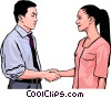 Vector Clipart graphic  of a business greeting