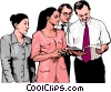 Vector Clipart image  of a business meeting