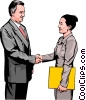 business greeting, handshake Vector Clipart illustration