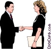 Vector Clip Art image  of a business greeting