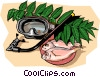 Vector Clipart graphic  of a Snorkel equipment