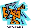 Vector Clipart picture  of a symbol of a man taking a
