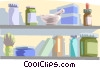 Vector Clip Art image  of a supplies