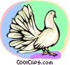 Vector Clipart graphic  of a White dove
