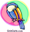 Toucan on a branch Vector Clipart illustration