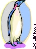 Vector Clip Art image  of a Penguin standing tall