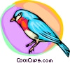 Vector Clipart illustration  of a Small bluebird