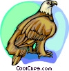 Vector Clipart image  of an American eagle